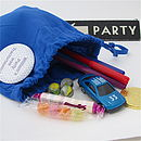 Personalised Party Loot Bags With Badge