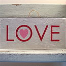 Wooden Hand Painted Love Sign