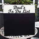 Personalised Large Vintage Wood Chalkboard