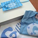 Personalised Baby's Blanket And Bodysuit Set