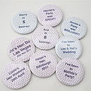 Personalised Party Favour Badges