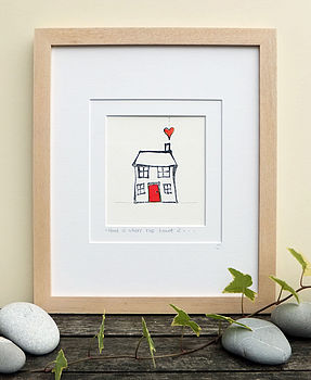 Home With Heart, Handmade Print