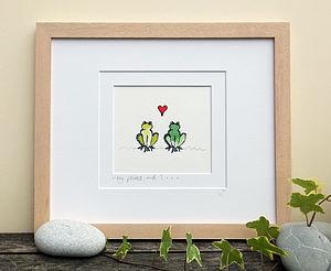 Frog Prince, Handmade Print