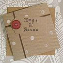 Handmade 'Hugs & Snugs' Card