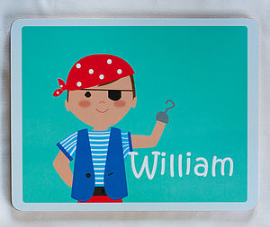 Personalised Pirate Placemat - kitchen