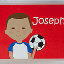 Personalised Footballer Placemat