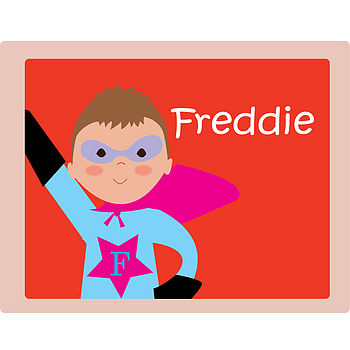 Personalised Superhero Placemat