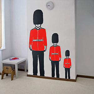Queen's Guard Soldier Vinyl Wall Sticker - pictures, prints & paintings