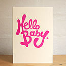 'Hello Baby' Card