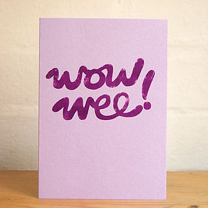 'Wow Wee' Card - cards