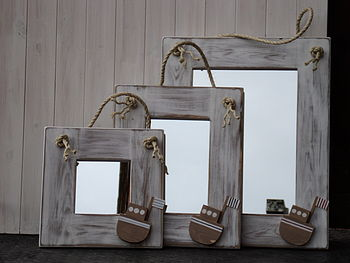 Fishing Boat Mirror With Rope