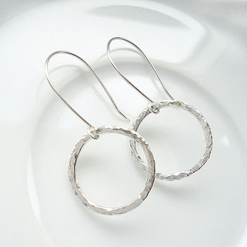 Hammered Circle Of Life Earrings