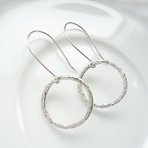Hammered Circle Of Life Earrings - jewellery sets