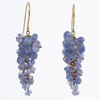 Tanzanite Wisteria Earrings