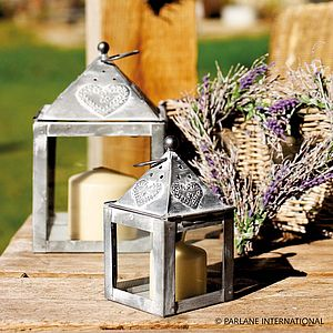 Metal Heart Lantern - candles & candlesticks