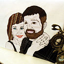Personalised Embroidered Couples Portrait