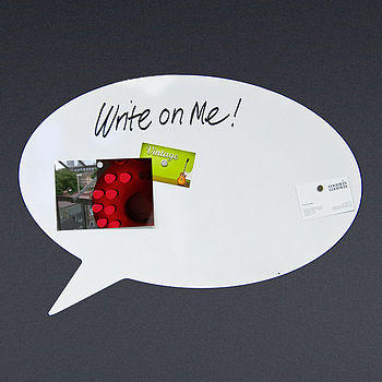 Round Speech Bubble white board