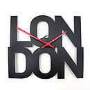 London - Typographic City Clock