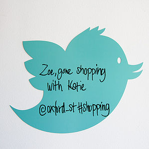 Tweet Bird White Board - storage & organising