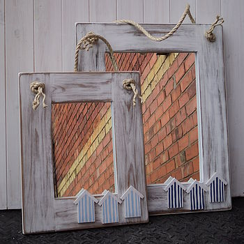 Beach Hut Mirror With Rope