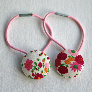 Flower Hair Elastics - hair accessories