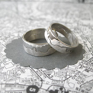 London's River Thames Ring - wedding & engagement rings