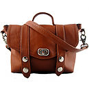 Tan Mini Satchel