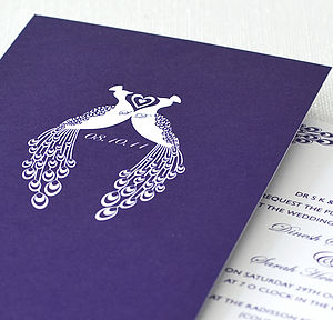 Art Deco Inspired Wedding Invitation - home