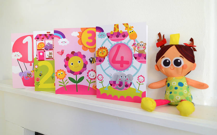 Little Girls Birthday Cards By Jules And Joe Notonthehighstreet