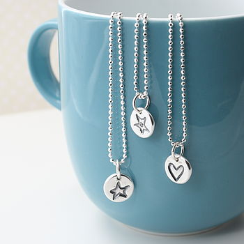 Little Dot Motif Silver Necklace