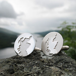 Scotland Coastline Cufflinks - cufflinks