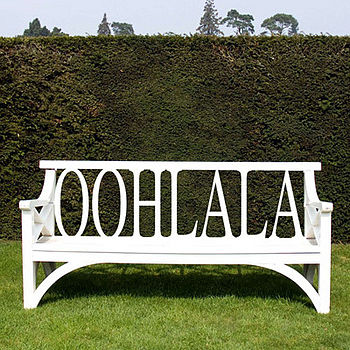 Personalised Wooden Bench