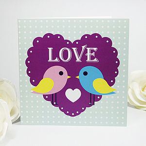 Cutie Love Birds Greeting Card