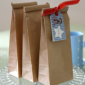 Ten Brown Paper Party Bags