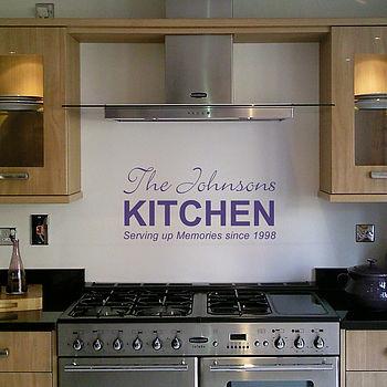 Personalised Kitchen Wall Sticker