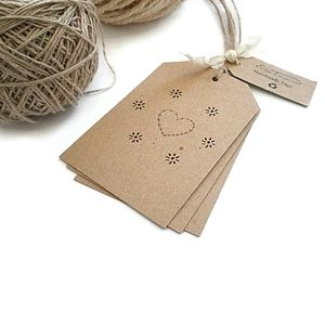 Rustic Heart And Stars Gift Tags - wedding favours
