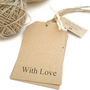 Rustic With Love Gift Tags - wedding favours