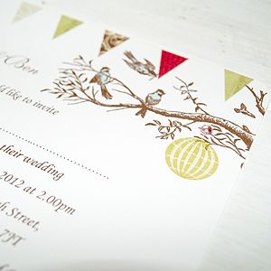 Love Blossom Personalised Wedding Invitations - wedding stationery