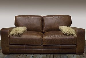 Harvard Leather Sofa - furniture