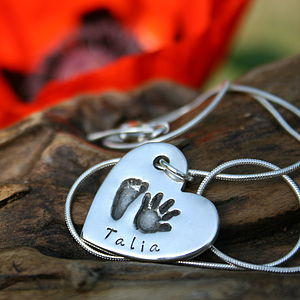First Impressions Personalised Heart Necklace - charm jewellery
