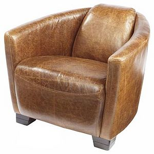 Carlton Rocket Vintage Leather Tub Chair - furniture