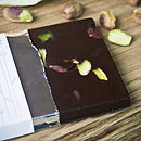Raw Chocolate Bar   Rose And Pistachio