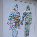 Personalised Couple Map Picture