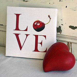'Love' Canvas Print - food & drink