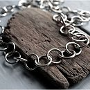 Handmade Chunky Silver Chain Necklace