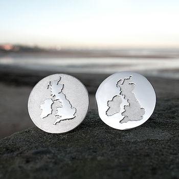 Handmade British Isles Cufflinks
