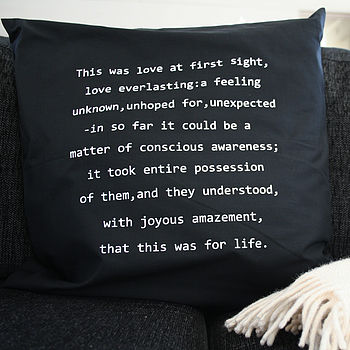 Personal Message Cushion Cover