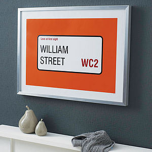 Personalised Street Name And Borough Print - posters & prints
