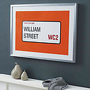 Personalised Street Name And Borough Print