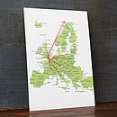 Stitch A Map Postcard: Europe
